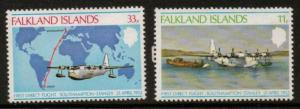 FALKLAND ISLANDS SG346/7 1978 ANNIV OF DIRECT FLIGHT MNH