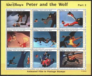 Maldives. 1993. Small sheet 2073-81. Disney, cartoons. MVLH.