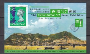 Z3912 1996 hong kong s/s mh #743 stamp expo