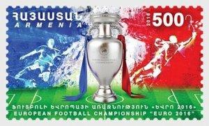 2016   ARMENIA - SG: 994   - FOOTBALL EUROPEAN CHAMPIONSHIPS  - UNMOUNTED MINT