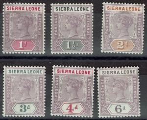 SIERRA LEONE 1896 QV KEY TYPE RANGE TO 6D