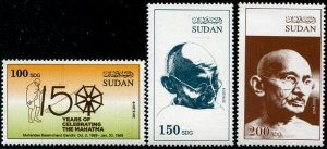HERRICKSTAMP NEW ISSUES SUDAN Gandhi High Face Value