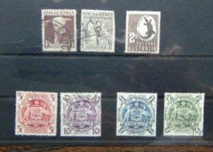 Australia 1948 - 56 set to 2s  Used (1/6 Faults) SG223 - SG224d
