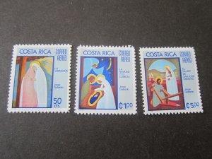 Costa Rica 1975 Sc C649-51 Christmas Religion set MNH