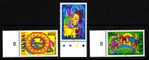 Aruba MNH Scott #241-#243 Set of 3 Carnival 50th anniversary: Masks, Queen, P...