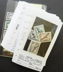 EDW1949SELL : AUSTRIA Nice collection of Mint & Used singles & sets Sc Cat $1804