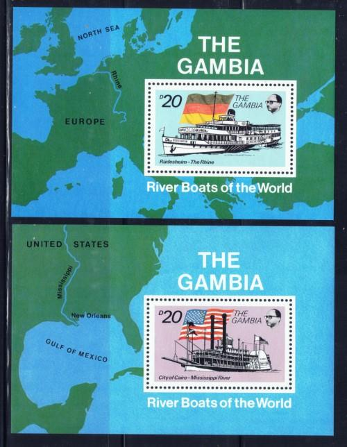 Gambia 1263-64 NH 1992 Riverboats S/S