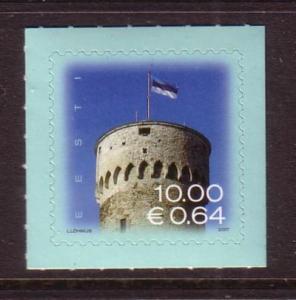 Estonia Sc574 2007 Flag Pikk Hermann Tower stamp Euro  NH