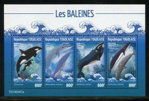 TOGO 2019 WHALES SHEET  MINT NEVER HINGED