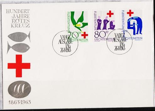 Liechtenstein. FDC.1963  Red Cross. Fine Used