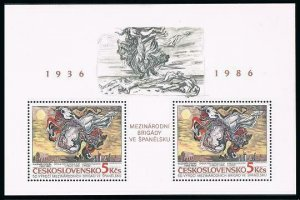 Czechoslovakia 2625,MNH. Intl.Brigades in Spaine.Painting,by Vladimir Sychra,
