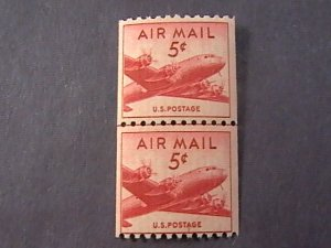 U.S.# C37-MINT/NEVER HINGED---JOINT LINE  PAIR----AIR-MAIL--1948