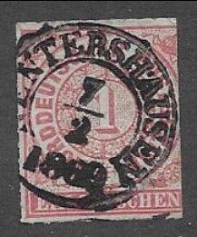 North German Confederation #4 sound, beautiful SON Feb. 7th 1869