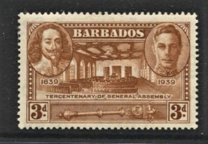 STAMP STATION PERTH  Barbados #206 Assembly Chamber - MLH- CV$4.00
