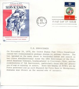 US FDC #1421 DAV, Cover Craft (9119)