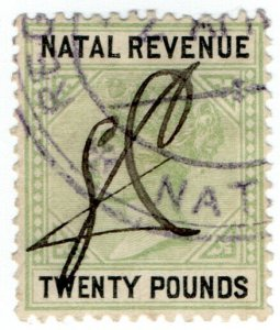 (I.B-BOB) Natal Revenue : Duty Stamp £20