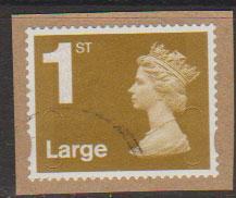 GB QE II Machin SG U2955 - 1st Large Gold  - No Year -  Source B