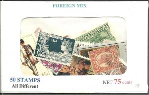 Foreign Mix, 50 Stamps All Different, Used**-