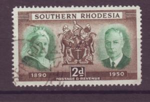 J20938 Jlstamps 1950 south rhodesia set of 1 used #73 royality