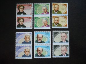 Stamps - Cuba - Scott# 3580-3585 - MNH Set of 6 stamps in Pairs