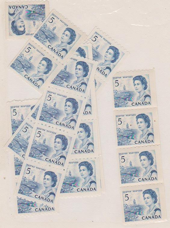 Canada USC #468 Mint (30) Mostly Strips or Pairs - F-VF-NH Cat. $90.