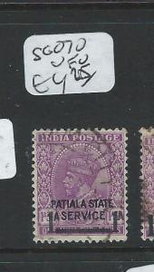 INDIA PATIALA (P2308B)  KGVI   SERVICE SG O71-80   VFU