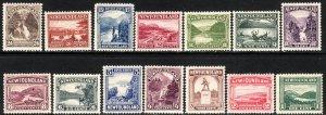 1923-24 Newfoundland Canada complete set MNH Sc# 131 / 144 CV $268.75