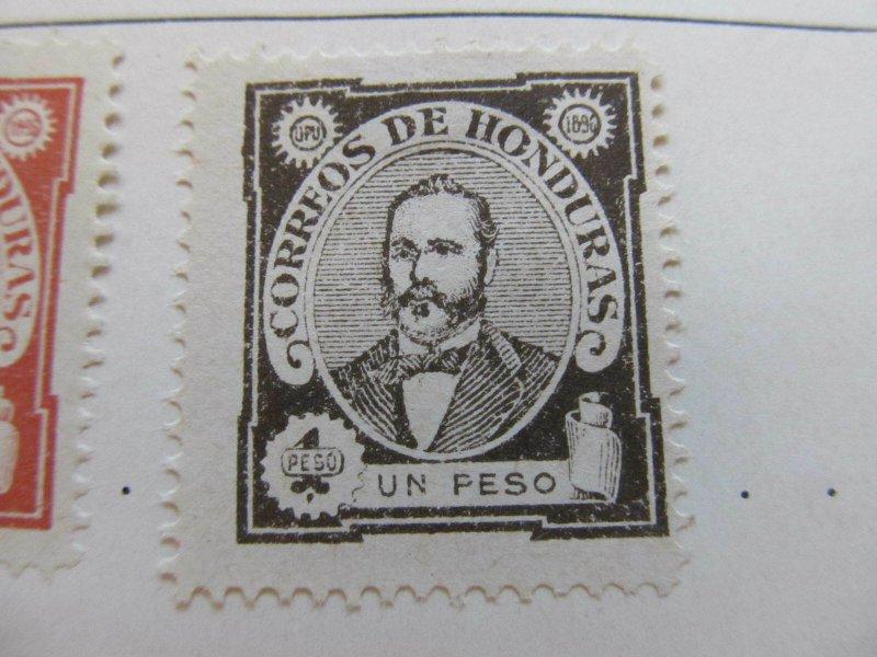 Honduras 1896 1p fine mng stamp A11P12F43