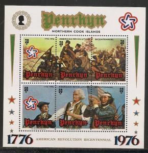 Penrhyn Island 80d 1976 USA Bicentennial s.s. NH