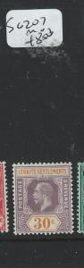 MALAYA STRAITS SETTLEMENTS (P2808B) KGV 30C  SG 207    MOG