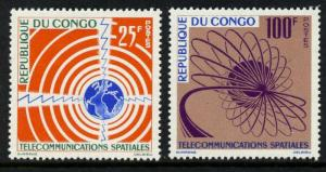 Congo PR 106-7 MNH Space Communications, Map