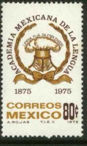 MEXICO 1089, 80¢ Centenary of the Mexican Academy of Language MINT, NH. VF.