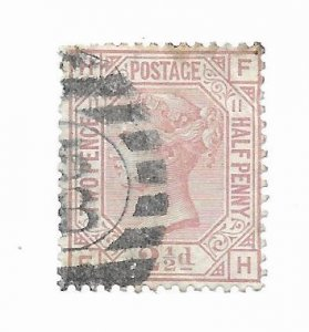 Great Britain #67 PL11 2 small creases Used - Stamp - CAT VALUE $60.00