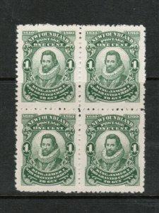 Newfoundland #87iii Extra Fine Mint Block UL Is NFW Variety