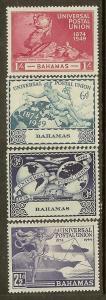 Bahamas, Scott #'s 150-153, UPU Issues, MH
