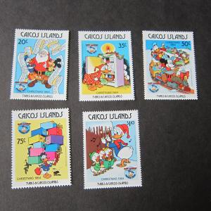 Caicos Islands Disney Sc 54-58 set MNH