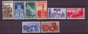 J21216 Jlstamps 1946 italy set mnh #478-85 designs