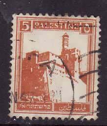 Palestine-Sc#67- id5-used 5m brown org-1927-42-