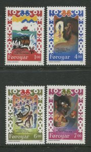 STAMP STATION PERTH Faroe Is.#270-273 Pictorial Definitive Iss.MNH 1994 CV$8.00