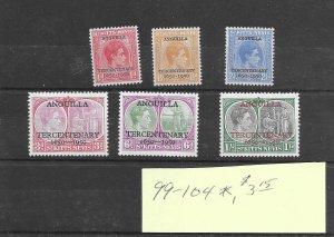 St. Kitts & Nevis #99-104 MH - Sourvenir Sheet - CAT VALUE $3.15