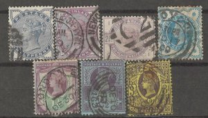 COLLECTION LOT # 4243 GREAT BRITAIN 7 STAMPS 1881+ CV+$46