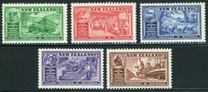 New Zealand SC##218-222 Chamber of Commerce Congress CV$13 (1936) MNH