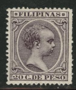 Philippines Scott 175 MH* King Alfonso XIII 1894 CV$175