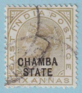 INDIA - CHAMBA STATE 15  USED -  NO FAULTS EXTRA FINE !