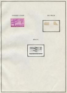 #924E B.E.P. PHOTO ESSAY 3¢ TELEGRAPH 1944 ISSUE W/ FINISHED STAMP BT8129
