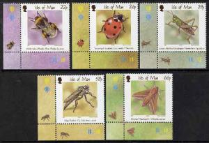 Isle of Man 2001 Insects set of 5 unmounted mint, SG 924-28