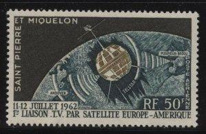 St Pierre & Miquelon 1962 Telstar Sc# C26 mint