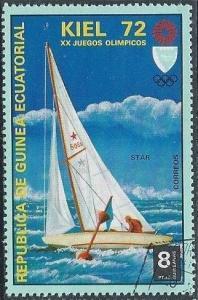 Equatorial Guinea 72108 (u cto) 8p Olympics: Kiel Regatta