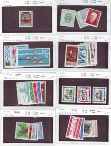 Z647 JLstamps germany DDR mnh/mhr with sets on sales cards, been checked & sound
