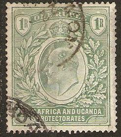 East Africa & Uganda 25 SG KUT 20a Used VF 1907 SCV $75.00